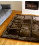 RugStudio presents Bowron Geometric Squares Java Brown Hand-Tufted, Best Quality Area Rug